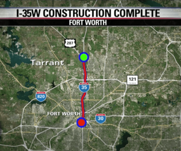 TxDOT completes 8year construction project opens I35W