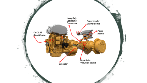 small resolution of caterpillar electric drive component graphic