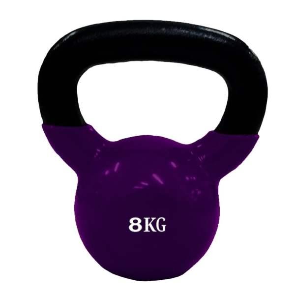 Mancuerna Pesa Rusa Kettlebell 8kg Encauchetada Gym