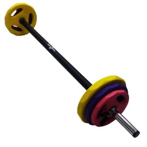 Set Body Pump Pesas Barra + Discos Total 20 Kg Sportfitness