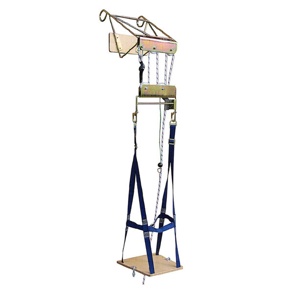 Silla con poleas para trabajos verticales en posicin sentada