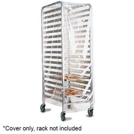 marko by carlisle transparent plastic cover with velcro flaps for full size sheet pan rack
