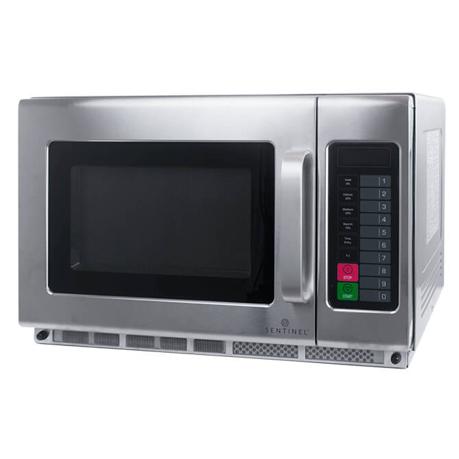 sentinel 1 2 cu ft 1800 watt commercial microwave with touch pad 23 w