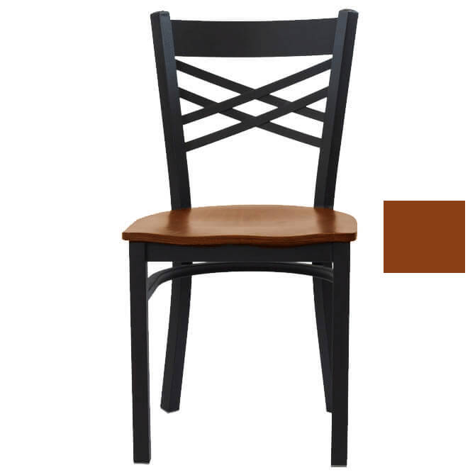 x back chairs kid pedicure chair black powder coat metal with honey finish wood seat share this