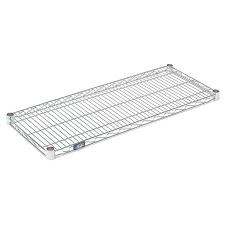 Nexel Clear Poly-Z-Brite Zinc-Coated Wire Shelving Section