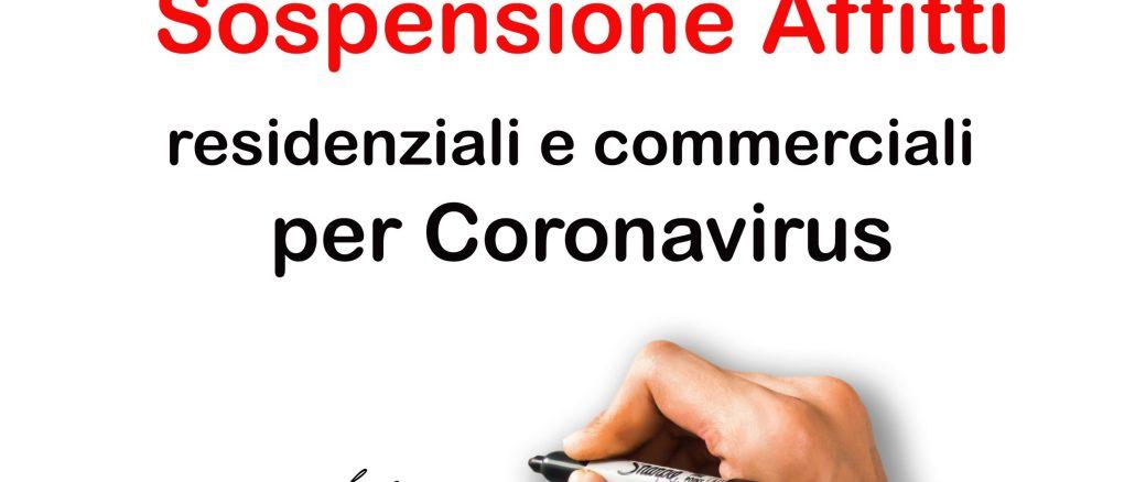 firma per sospensione affitti per coronavirus