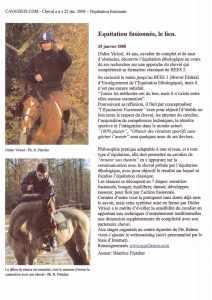 Article de l'éperon du 01-2008 parle de l'équitation fusionnée