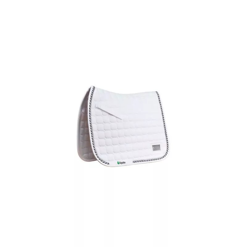 tapis de selle equito blanc argent