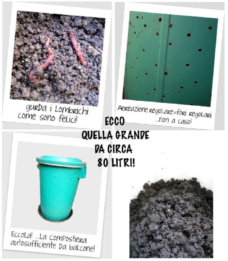 Compostiera autosufficiente da balcone COMPLETA e FUNZIONANTE ...