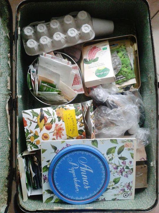 baratto di semi valigia vintage