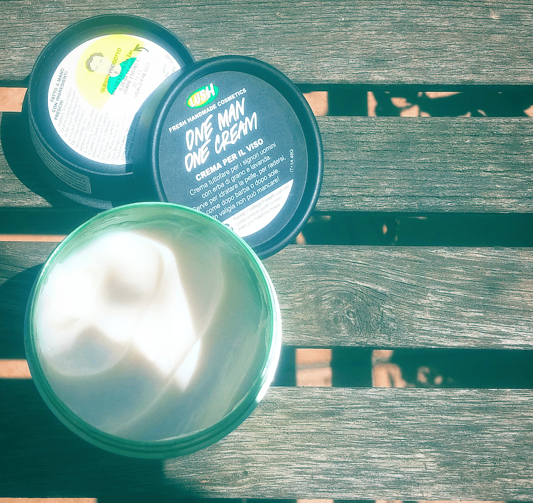 One man one cream di lush? fatta in casa ecobio e vegan