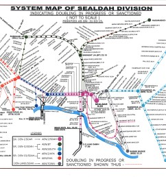 the system map of sealdah division of eastern railway [ 3507 x 2480 Pixel ]