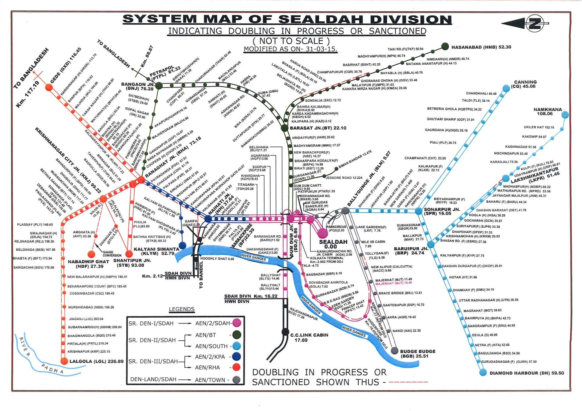 hight resolution of the system map of sealdah division of eastern railway