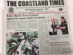 Kitty Hawk Town Council approves ERA resolution!