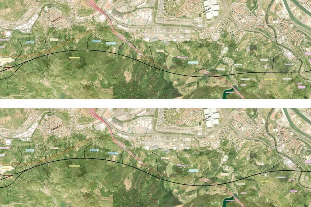 Alternativas de trazado en el proyecto de variante sur ferroviaria