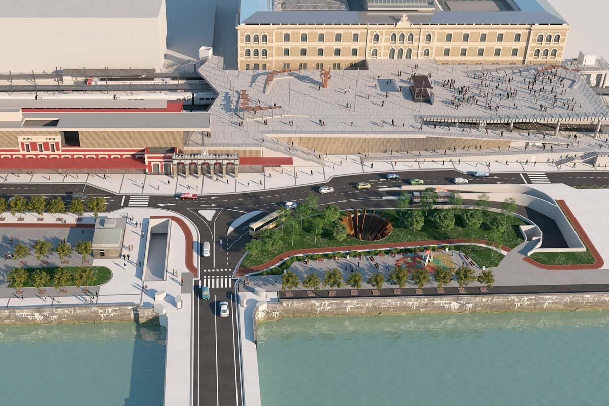 Licitadas las obras de la estación del AVE en Donostia-San Sebastián