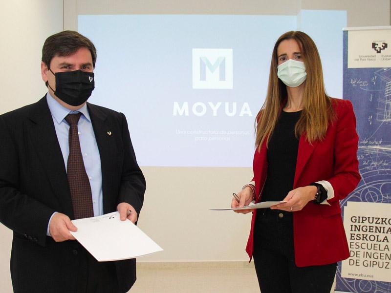 La Escuela de Ingeniería de Gipuzkoa (GIE – UPV/EHU) y Construcciones Moyua ponen en marcha el Aula de Construcción Sostenible