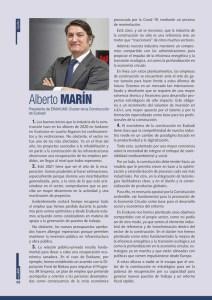 El presidente de Eraikune, Alberto Marín, ve el futuro del sector de la construcción con optimismo