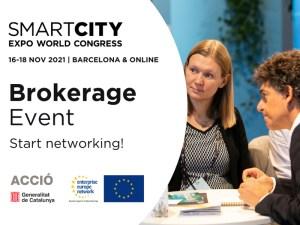 Brokerage Event Smart City 2021 - Encuentros híbridos bilaterales internacionales en el marco del evento Smart City Expoworld Congress 2021 @ Evento Online