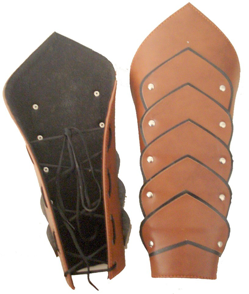 Warrior Hand Greaves  Buy BROWN LEATHER ARMOUR Online
