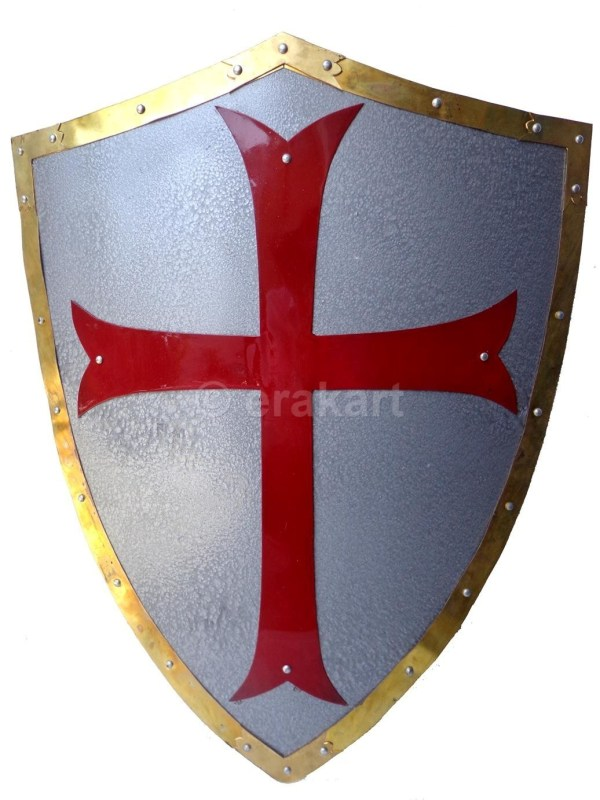 Medieval Antique Crusaders Shield Of Warriors