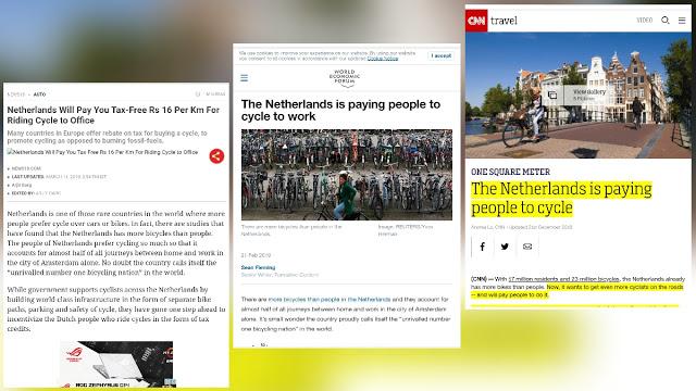 Sepeda Mau Dipajakin? Di Belanda Pesepeda Malah Dibayar