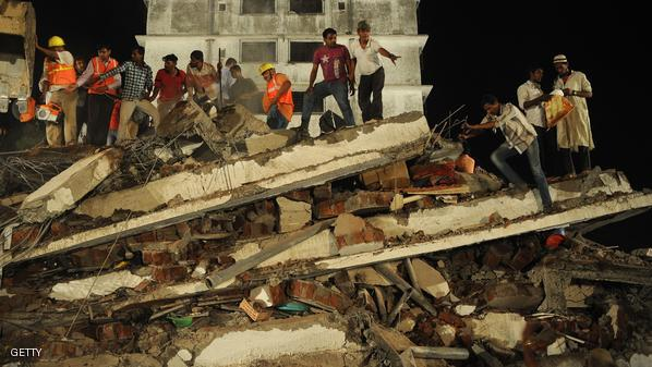 INDIA-ACCIDENT-HOUSE-COLLAPSE-DEATH