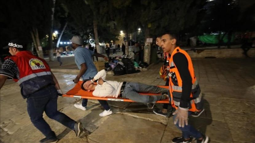 Korban luka dalam serangan polisi Israel di komplek masjid al-Aqsha