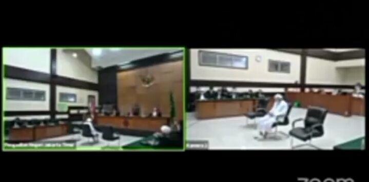 Sidang vonis Habib Rizieq di PN Jaktim