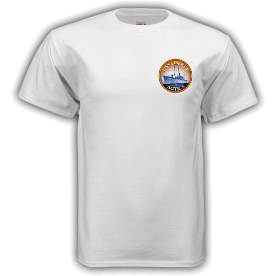 Erasing the Liberty t-shirt white front
