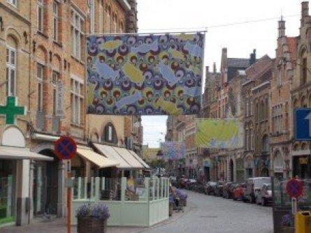 Una exposición de paños en la ciudad, concretamente a lo largo de la ciudad Excursiones con historia: Ypres - DSCN6097 300x225 - Excursiones con historia: Ypres