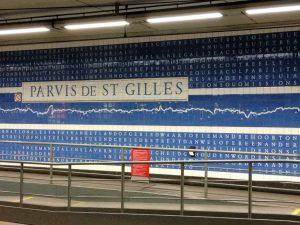 arte en las estaciones de metro - Parvis de St Gilles 300x225 - ARTE EN LAS ESTACIONES DE METRO