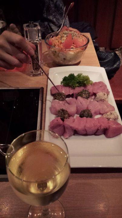 carne  - carne - Comer fondue en Fondueloft