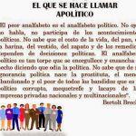 "Beltort Brecht, ""Apolítico"""