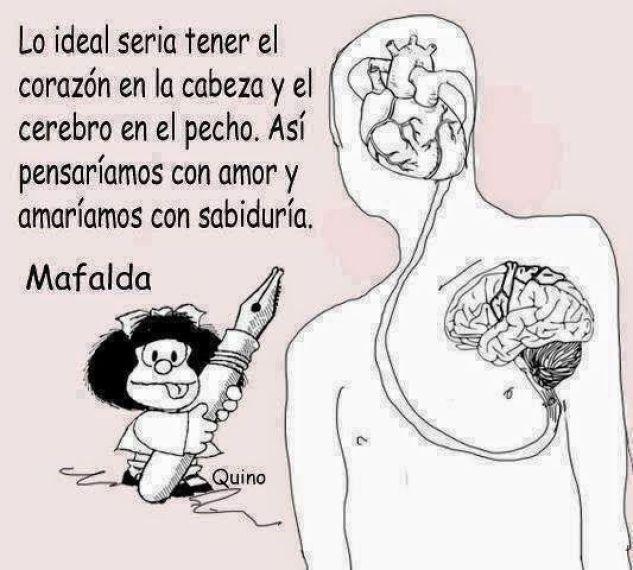 El corazón en la cabeza...