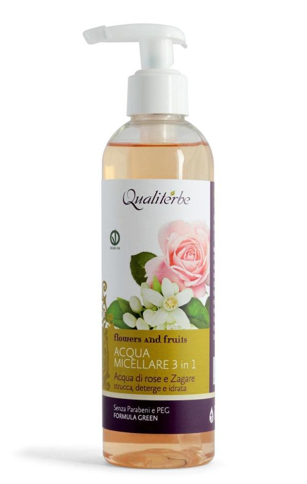 Acqua micellare 3 in 1 all'acqua di rose e zagare - Qualiterbe | Erboristeria Erbainfusa Como | Shop Online