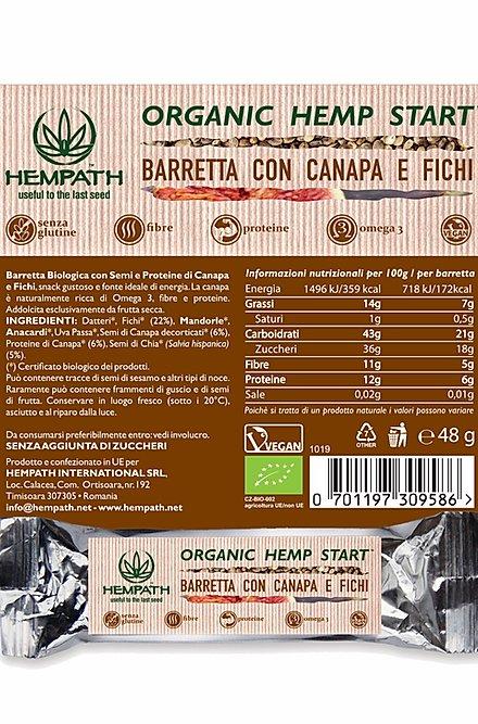 Barretta bio - canapa e fichi ingredienti - Hempath | Erboristeria Erbainfusa Como | Shop Online