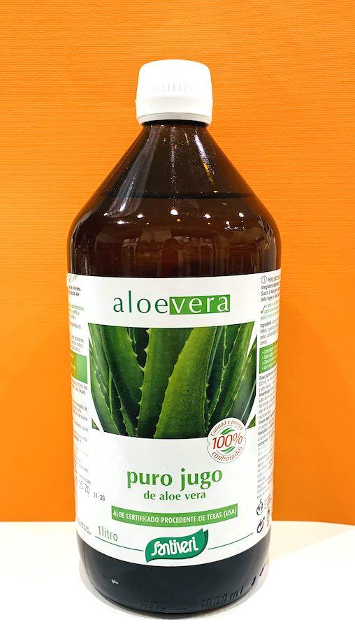 Succo puro aloe vera 1000 ml - Santiveri | Erboristeria Erbainfusa Como | Shop Online