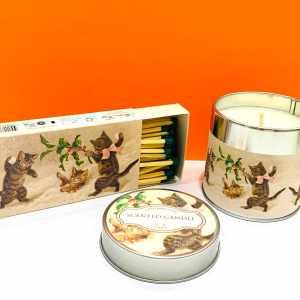 Candela di soia - gattini - Erbainfusa | Erboristeria Erbainfusa Como | Shop Online