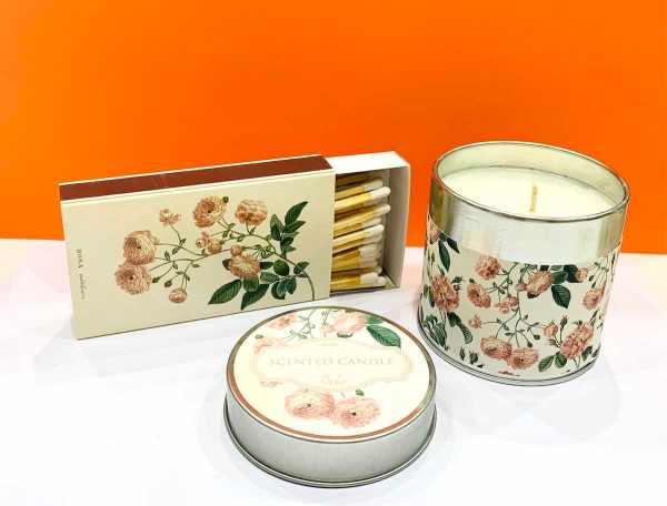 Candela di soia - rosa - Erbainfusa | Erboristeria Erbainfusa Como | Shop Online