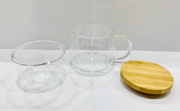 Tazza con infusore - bambù - coperchio - Erbainfusa | Erbainfusa Como | Shop Online