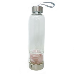 Bottiglia elisir - Quarzo rosa grezzo - Cristalli del benessere | Erboristeria Erbainfusa Como | Shop Online