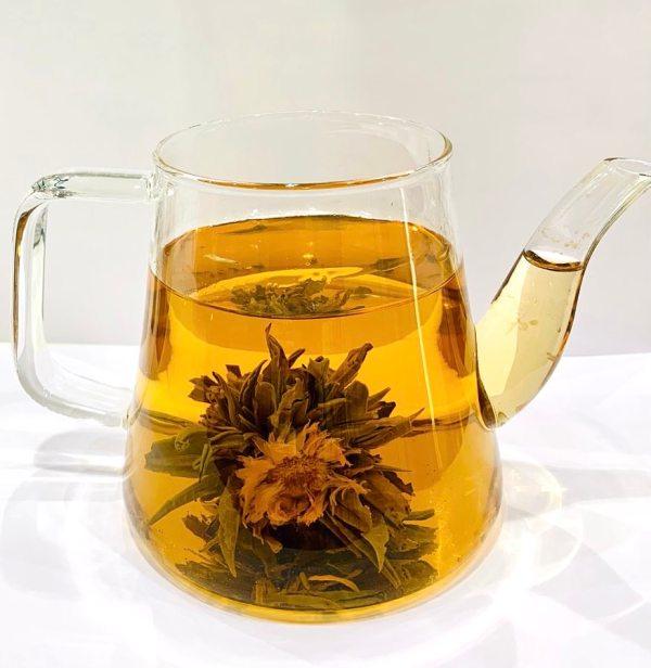 Teiera con Fiore del tè - Erbainfusa | Erboristeria Erbainfusa Como | Shop Online