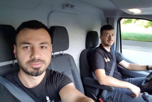 Bledar Dane (specialist adezivi) dhe Besmir Murati te punesuar ne gjermani