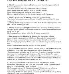 Figurative Language Poem 4: The Dawn's Awakening! by Otto Leland Bohanan    Answers [ 2200 x 1700 Pixel ]