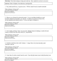 Figurative Language Worksheets   Ereading Worksheets [ 2200 x 1700 Pixel ]