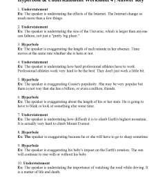 Hyperbole Practice Worksheets   Printable Worksheets and Activities for  Teachers [ 2200 x 1700 Pixel ]