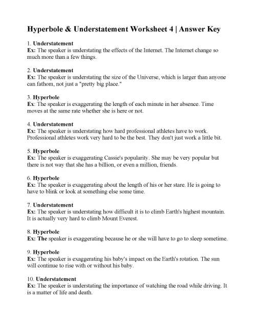 small resolution of Hyperbole Practice Worksheets   Printable Worksheets and Activities for  Teachers