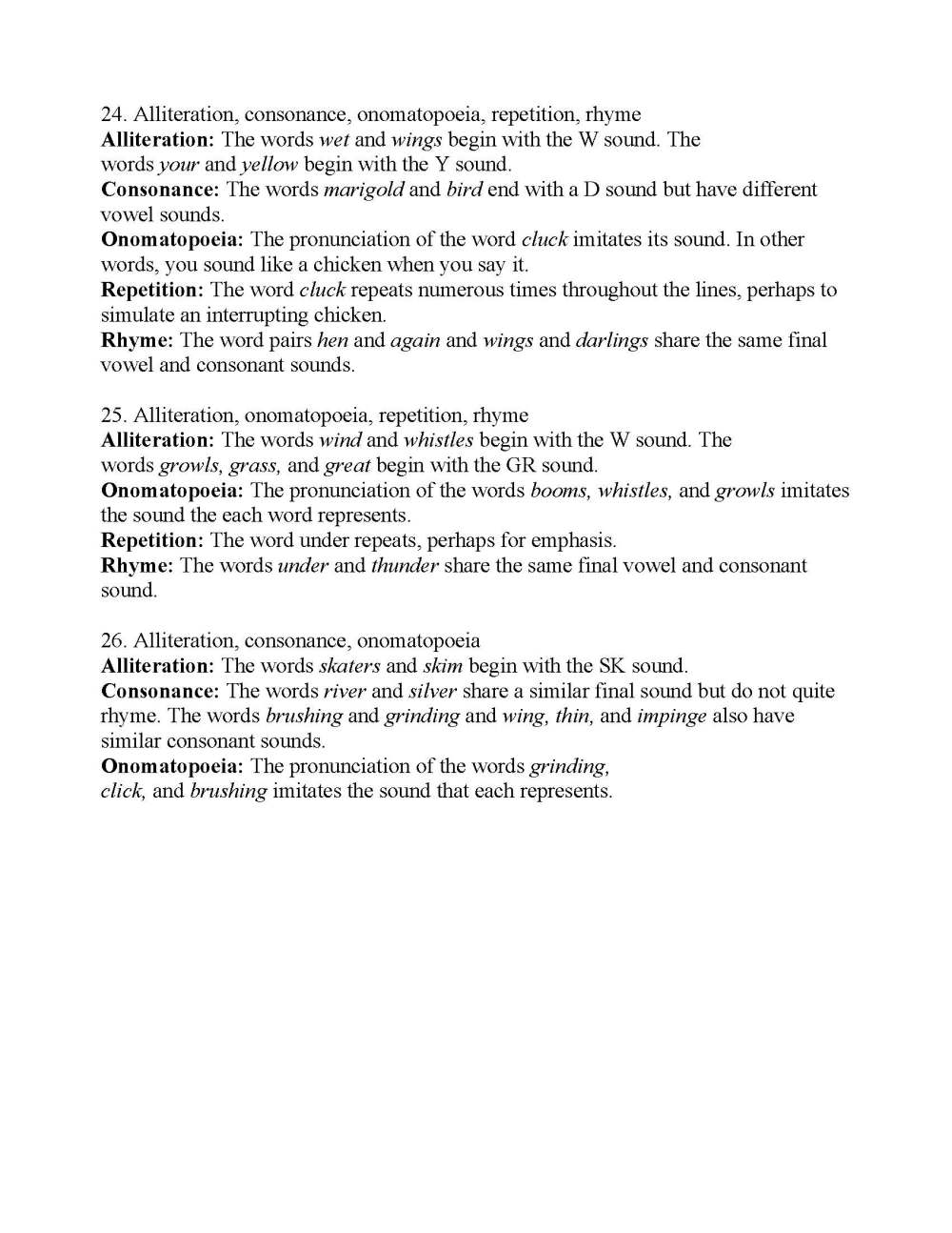 medium resolution of Sound Devices In Poetry Worksheet - Promotiontablecovers
