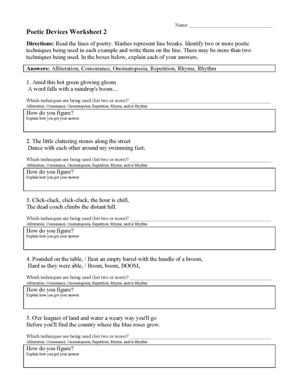 medium resolution of 32 Sound Devices In Poetry Worksheet - Worksheet Project List